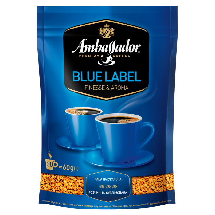 Кофе растворимый Ambassador Blue Label 60г.