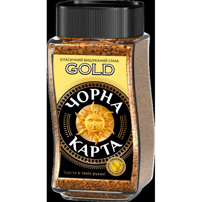Кава розчинна Чорна Карта Gold 190г.