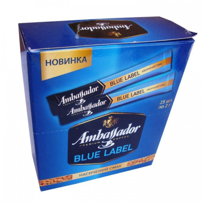 Кофе растворимый Ambassador Blue Label 2г/25шт