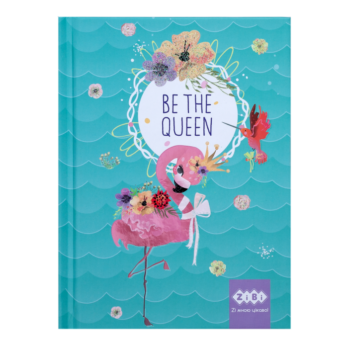 Блокнот Be The Queen А6, 64арк. (бірюзовий) ZB.12713-06