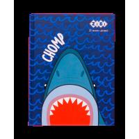 Блокнот Sea  А-5, 64л, тверд. обл. клетка, синий