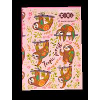 Блокнот PATTERN  А-5, 64л, интеграл. обл. клетка, розовый