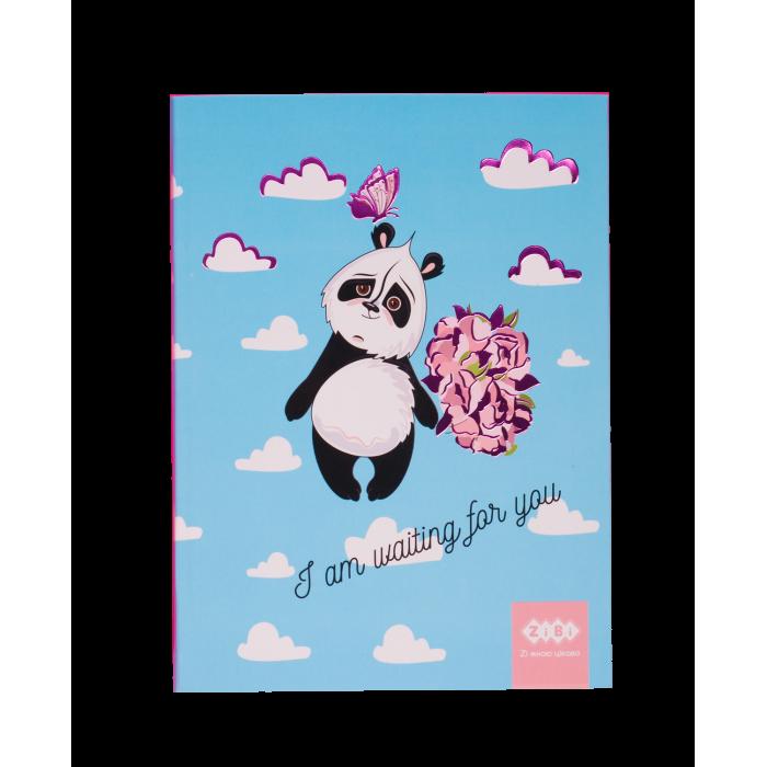 Блокнот SWEET Panda А-5, 64арк, інтегр. обл. клітинка, блакитний