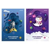 Набір кольорового картону і паперу А4  k21-1256