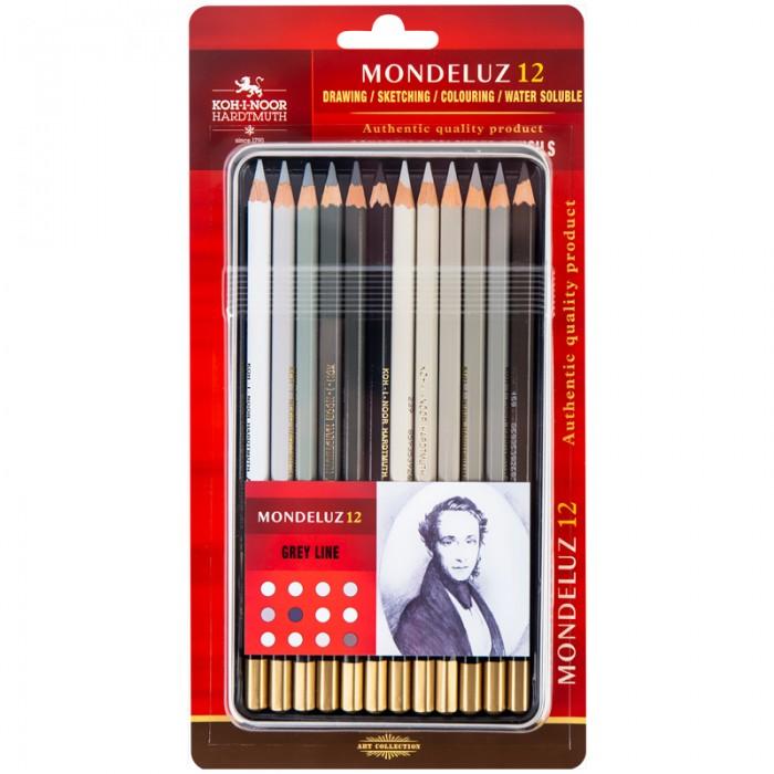 Олівці акварельні художні Mondeluz Grey Line (12 кол)