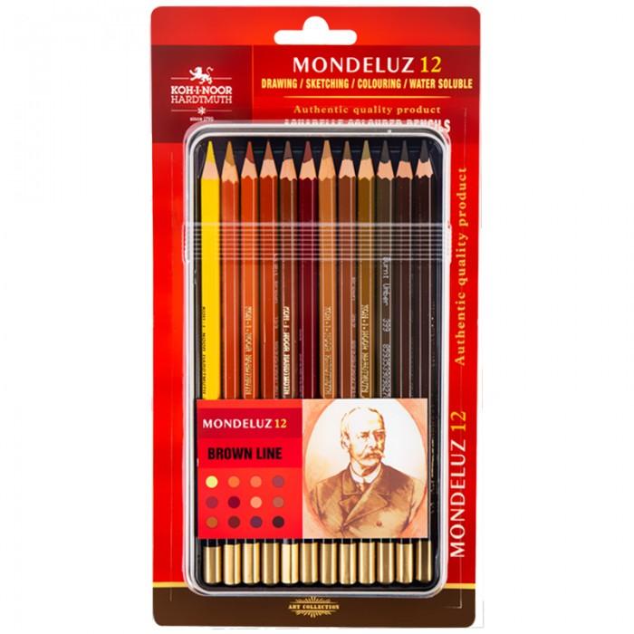 Олівці акварельні художні Mondeluz Brown Line (12 кол)