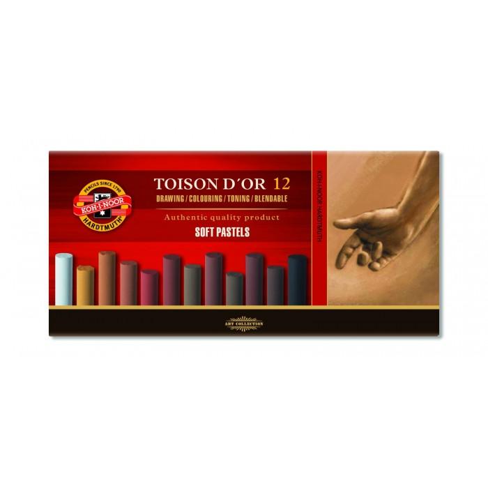Мелки пастельные Toison D'OR , набор 12 шт. (оттенок - коричневый) 8522012002BR
