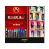 Крейда пастельна Toison D'OR (набір-24 кольори) 8514