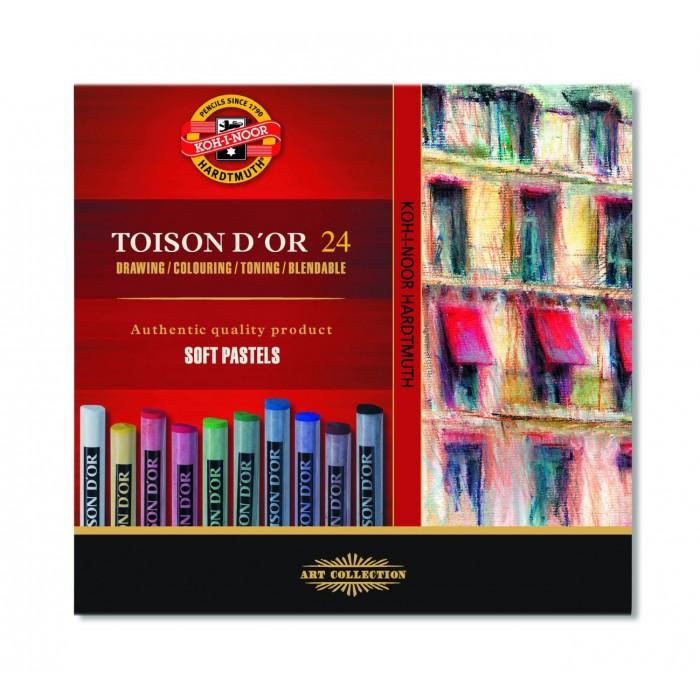 Мелки пастельные Toison D'OR (набор-24 цвета) 8514
