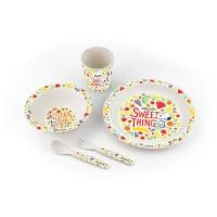 Набір дитячого посуду з бамбука (5 предметів) Snoopy
