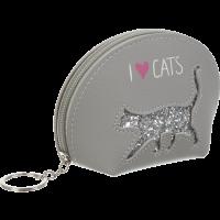 Кейс для монет CAT LOVER 12,5x8,5x4,5см. (серый)