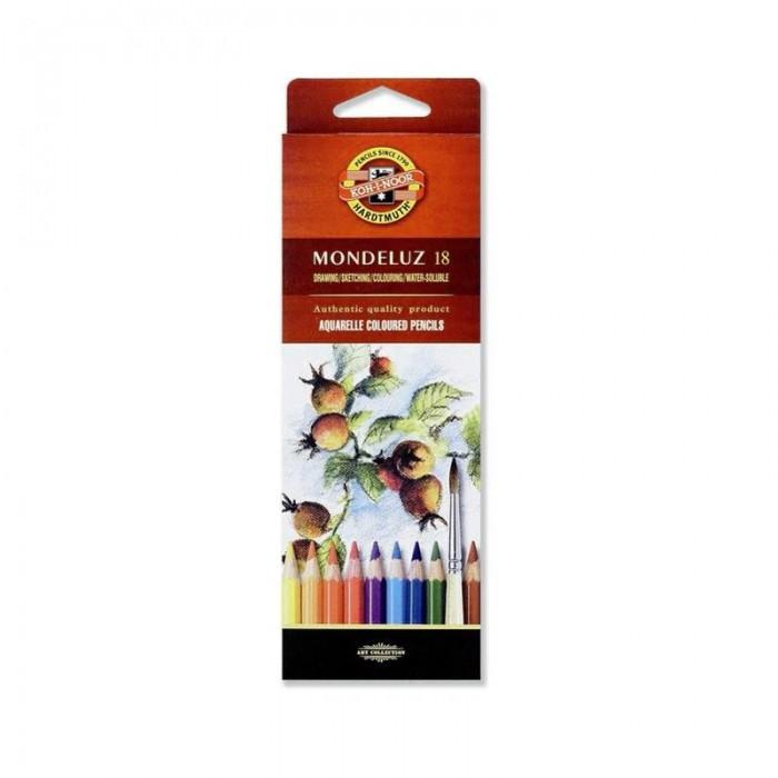 Карандаши акварельные художественные MONDELUZ (18 цв)