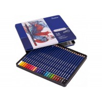 Олівці кольорові в металевому пеналі CHROMA (24 кол) 8010-24TN