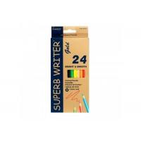 Карандаши цветные Superb Writer Gold (24 цв) 4100G-12CB