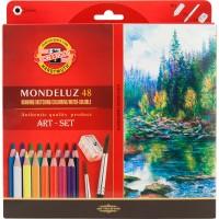 Карандаши акварельные художественные MONDELUZ (48 цв)