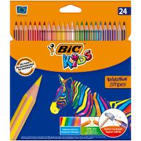 Олівці кольорові Evolution Stripes (24кол)