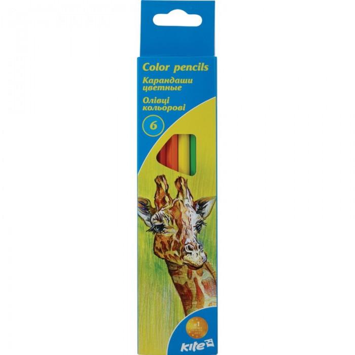 Карандаши цветные Животные (6 цветов) k15-050