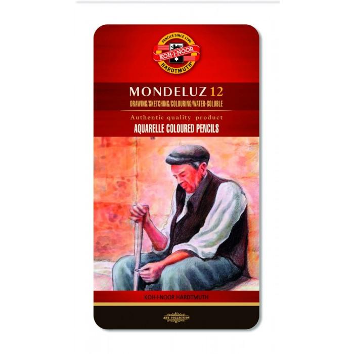 Карандаши акварельные Mondeluz подарочные (12 цветов) 3722