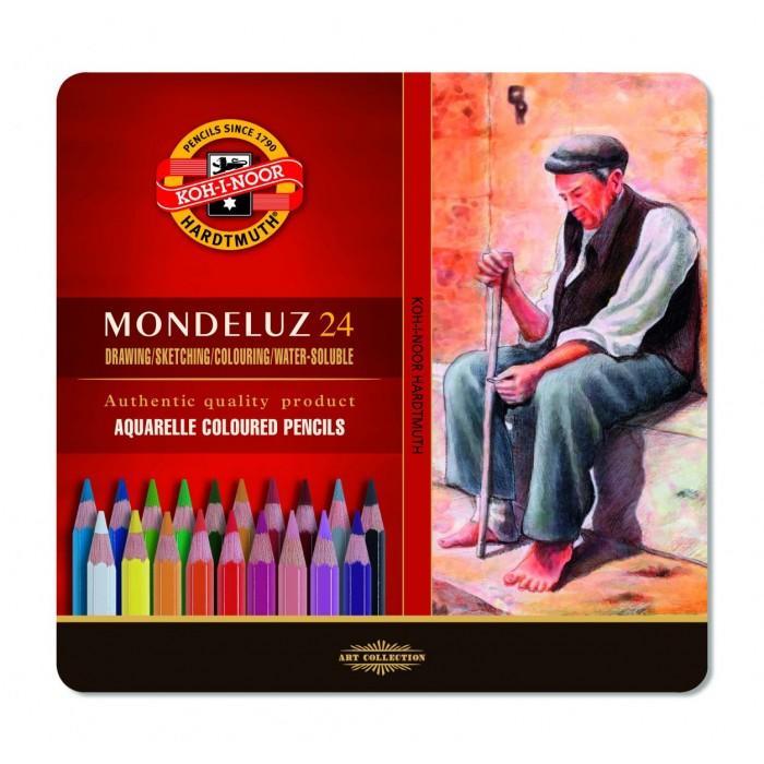 Карандаши акварельные Mondeluz подарочные ( 24 цвета) 3724