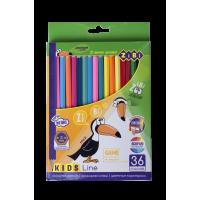 Олівці кольорові Kids Line (36 кольорів) ZB.2417