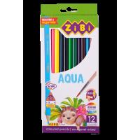 Карандаши цветные акварельные AQUA (12 штук) ZB.2475