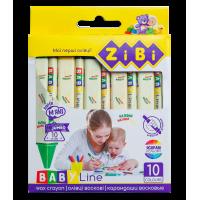 Олівці воскові трикутні Baby Line Jumbo (10 кольорів) ZB.2482