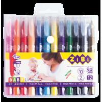 Пастель масляна шовкова Jumbo (12 кольорів)  ZB.2497