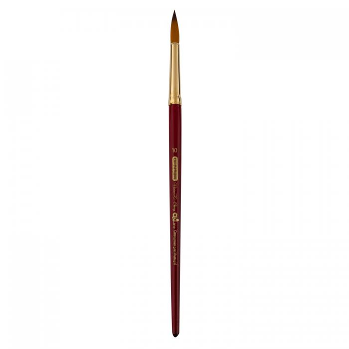 Пензлик синтетичний круглий Cherry ART Line коротка ручка №10  ZB.6970SRD-10 (6 штук в блістері)