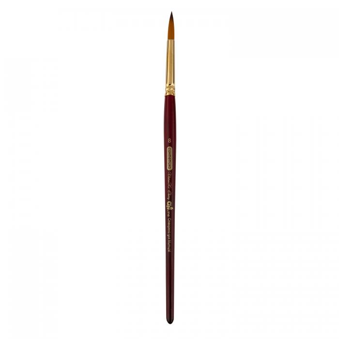 Пензлик синтетичний круглий Cherry ART Line коротка ручка №8   ZB.6970SRD-8 (6 штук в блістері)