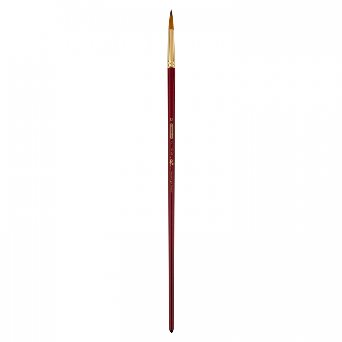 Пензлик синтетичний круглий Cherry ART Line довга ручка №10  ZB.6971SRD-10 (6 штук в блістері)