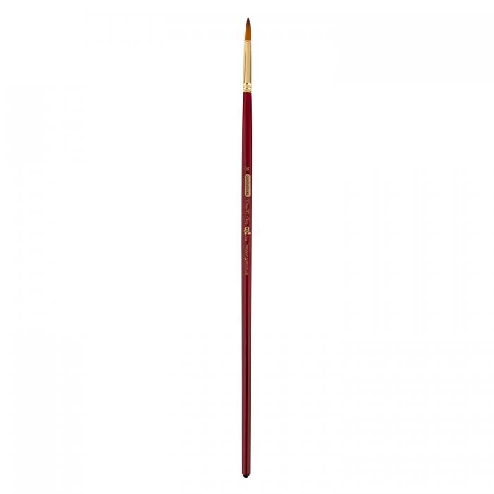 Пензлик синтетичний круглий Cherry ART Line довга ручка №8  ZB.6971SRD-8 (6 штук в блістері)