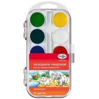 Акварель Мультики в пластиковом пенале (10 цветов)