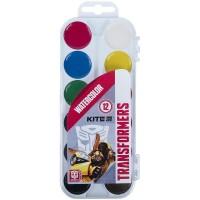 Акварель напівсуха (12 кольорів, пластиковий пенал) TF