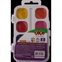 Акварель (8 кольорів, пластиковий білий пенал) ZB.6542-10