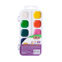 Акварель (10 цветов, белый пластиковый пенал) ZB.6543-10