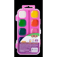 Акварель (10 кольорів, рожевий пластиковий пенал) ZB.6543-12