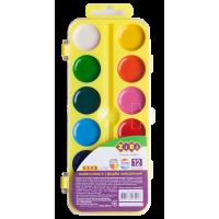 Акварель (12 кольорів, ,жовтий пластиковий пенал) ZB.6544-15
