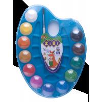 Акварель на синей палитре (12 цветов) ZB.6558-02