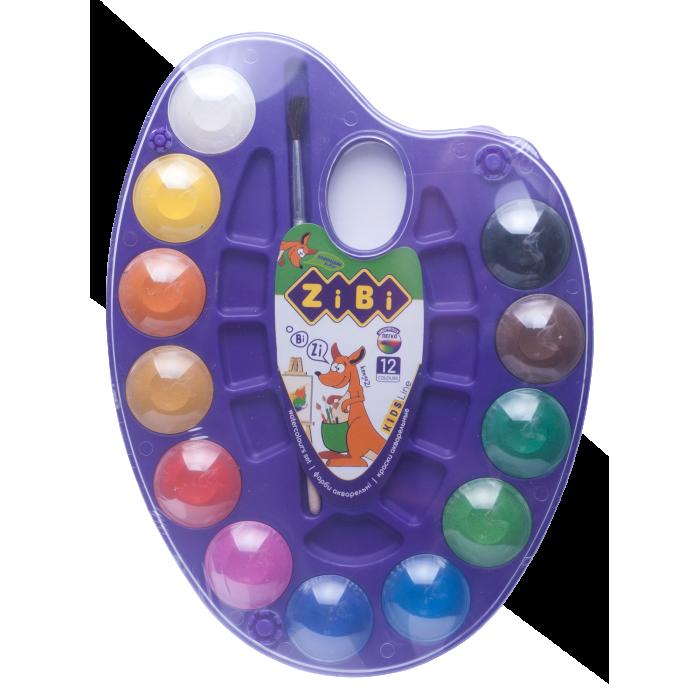 Акварель на фіолетовій палітрі (12 кольорів) ZB.6558-07