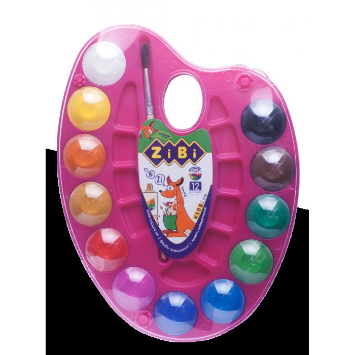 Акварель на рожевій палітрі (12 кольорів) ZB.6558-10