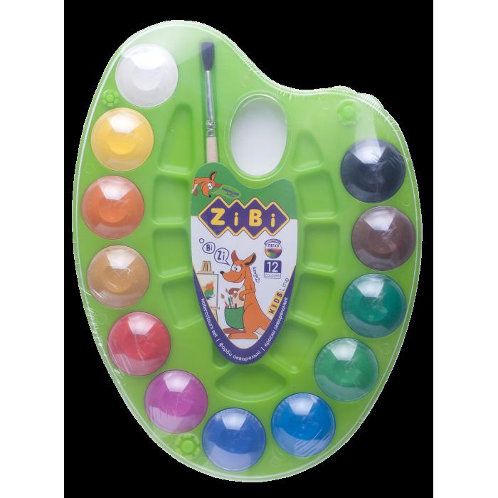 Акварель на салатовой палитре (12 цветов) ZB.6558-15