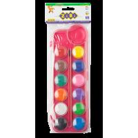 Акварель (12 кольорів, пластиковий рожевий пенал) ZB.6559-10