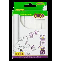 Мел белый KIDS Line  (12шт) ZB.6703-12