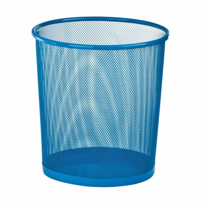 Корзина для бумаг металлическая, круглая (синий) ZB.3126-02