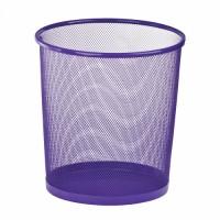Корзина для бумаг металлическая, круглая (фиолетовый) ZB.3126-07