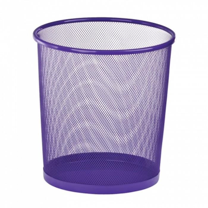 Корзина для паперів металева, кругла (фіолетовий) ZB.3126-07