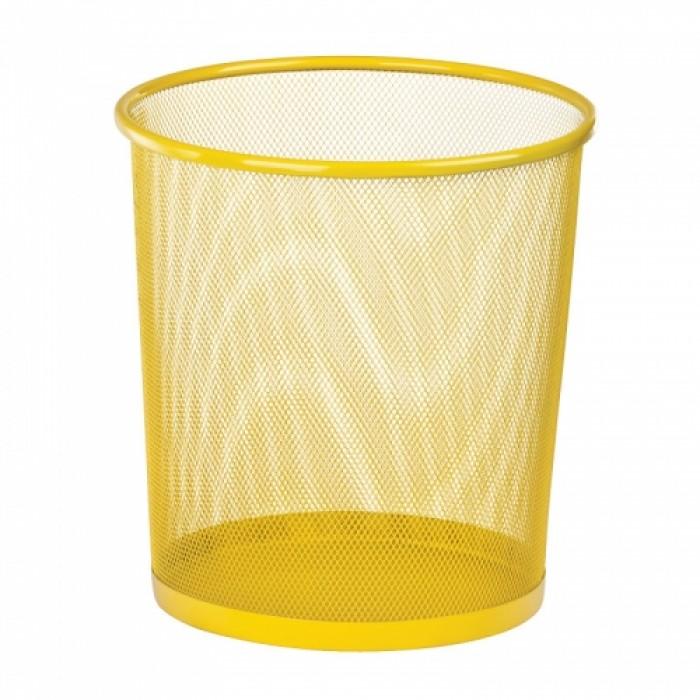 Корзина для паперів металева, кругла (жовтий) ZB.3126-08