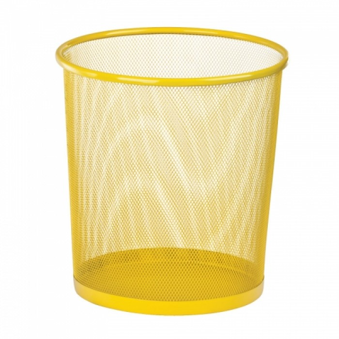 Корзина для бумаг металлическая, круглая (желтый) ZB.3126-08