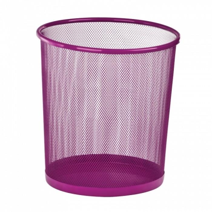 Корзина для бумаг металлическая, круглая (розовый) ZB.3126-10