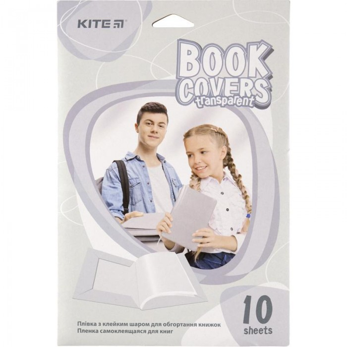 Пленка самоклеящаяся  для книг, прозрачная (38х27см) 10шт.